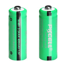 NiMH 1.2v 400mAh 2/3AAA Rechargeable Battery Button Top for Lights Cells 2Pcs