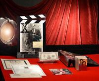X-FILES Signed AUTOGRAPH PHOTO William B. Davis & PROP, Topps Cards, COA, DVD