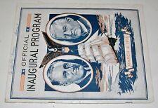 Inaugural Program for Franklin Roosevelt FDR March 4, 1933