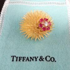 Tiffany & Co. Sea Urchin Brooch with Diamonds and Ruby