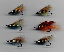 Salmon Flies: Single Hook x 6 size 6 with Genuine Jungle Cock Feathers (code296)