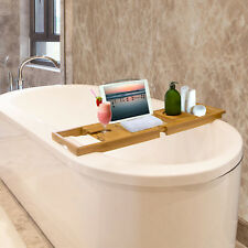 US Bathroom Cloth Book/Pad/Tablet Holder Bathtub Caddy Bamboo Bath Tub Rack Tray