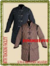 Medieval thick padded Black / Brown Gambeson play theater custom armor