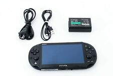 Sony PS Vita Black PCH-2000 Slim w/ Charger From Japan [Excellent +]