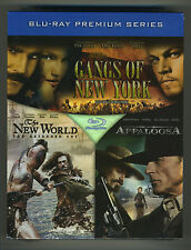 NEW Gangs of New York + The New World + Appaloosa Blu ray Premium Series Box Set