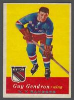 1957-58 Topps New York Rangers Hockey Card #52 Jean-Guy Gendron RC