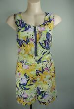 Pretty floral Retro hibiscus maxi print Shorts Playsuit Jumpsuit sz 10