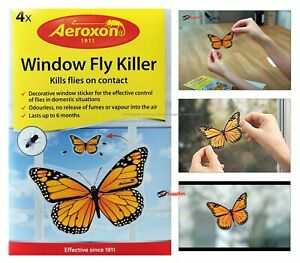 Fly Trap Killer Window Stickers Sticker Flying Insect Bug Killer