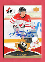 2016-17 Travis Dermott Upper Deck Team Canada Juniors Auto Patch 137/199
