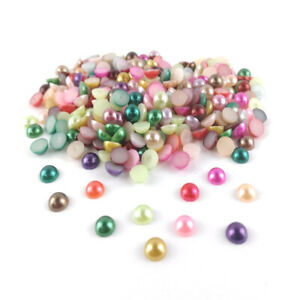 Acrylic Cabochons Mixed-Colour Dome Calibrated 8mm Pearlised Pack Of 300+