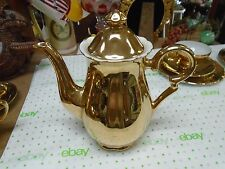 Stunning ALL-Over GOLD China Coffeepot Teapot