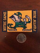 "Notre Dame Fightin' Irish Vintage Embroidered Iron On Patch 3.5"" X 2"" Nice"