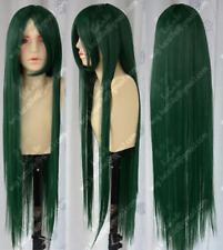 Hot Sell COS New Long Dark Green Cosplay Party Wig X3