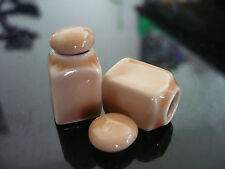 2 Beige Square Canister/Cookie Jar with removable lid Dollhouse Miniatures
