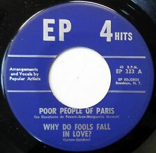 UNKNOWN ARTIST EP 45 Why Do Fools Fall In Love DOO WOP Female Vocal VG+ w364