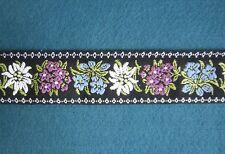 Trachtenborte gewebt mit Edelweiss und Enzian 4,5 cm breit Tracht Dirndl Borte
