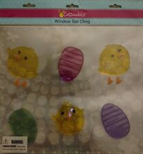 Cottondale Window Gel Cling Easter Eggs & Chicks Decoration Teacher Supplies