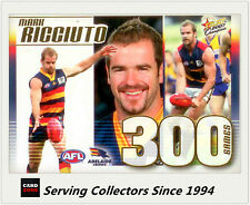 Select AFL 300 Game Case Card: 2007 Champions CC19 Mark Ricciuto (Adelaide)