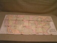 "1876 Antique Original Color 18""x36"" United States & Canada Railroad Railway Map"
