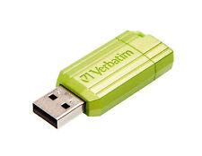 16GB Verbatim PinStripe Store N Go USB2.0 Flash Drive - Green