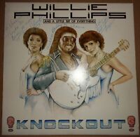 """SIGNED WILLIE PHILLIPS """"KNOCK OUT""""   LP-  RARE BOOGIE FUNK VINYL RECORD"""