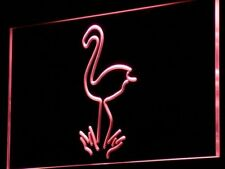 i828-r Flamingo Animals Display Logo Neon Light Sign