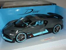 Bugatti Divo 1:18 Matt Grey/Blue by Burago