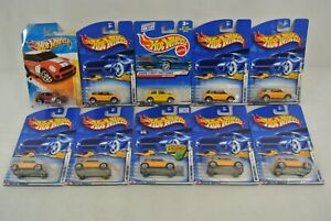 Hot Wheels Mini Cooper First Editions Lot of 10 New On Cards Diecast Car