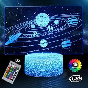 16 Colours 3D Universe Space Galaxy Night Light for Boys Girls Birthday Gift NEW
