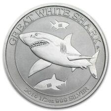 1/2 oz silver great white shark 2014! .999 pure silver! Shark series! BU