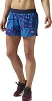 Reebok Women's Blue Slim Fitted Crossfit Running Shorts Size M AP9215