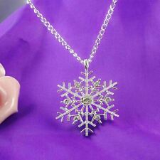 Snowflake Necklace, Silver Diamante, New, Christmas