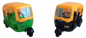 Big Auto Rickshaw TUK TUK India Cricket transport Car Toy GREEN BLACK TAXI