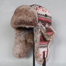 New Men Women Winter Fox Fur Russian Ushanka Cossack Cap Trapper Aviator Ski Hat