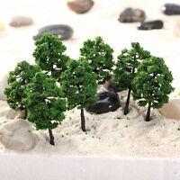 10PCS Model Tree Train RR Railroad Wargame Scenery Park Street Layout HO N Scale