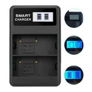 For OLYMPUS BLH-1 Camera Li-ion Battery USB Charger LCD Display Black Compact
