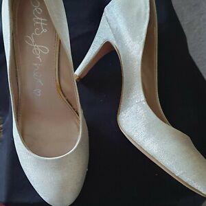 Ladies Silver Heels