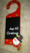 Christmas Plaque Countdown. days to Xmas Sign Wall Door Wooden Hanging