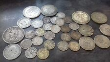 old british silver coins 130grams