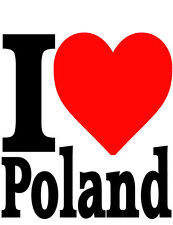 I LOVE POLAND POLISH IRON ON T SHIRT TRANSFER