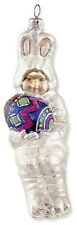 Slavic Treasures BUNNY BOY Polish Glass Easter Ornament, Retired & Last One!