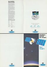 Folding Card 21.11.87 Europ. satellite technology, start TV SAT 1 Kourou (MiNr. 1290)