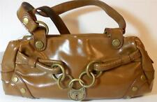 XOXO Keepsake Handbag w/ Chains & Lock Brown Small w/ Straps Satin Inside NWT