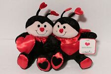 Lotsa Love 1-800-Flowers Set of 2 Ladybug Plush Toy Dolls NEW