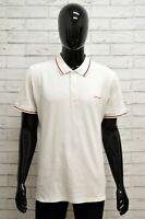 Polo CARHARTT Uomo Taglia M Maglia Maglietta Camicia Shirt Manica Corta Bianco