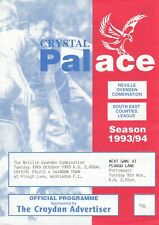 Crystal Palace Reserves v Swindon Town Reserves 1993/4 (19 Oct) Combination