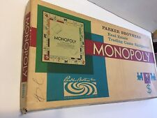 Vintage 1961, Monopoly Game, by Parker Brothers