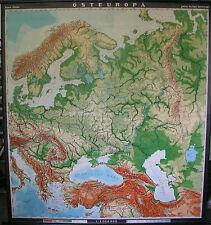 Schulwandkarte Map Eastern Europe Poland Russia Scandinavia 197x213cm 1963