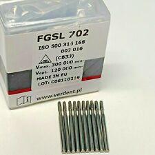 100 X Fg 702 25mm Surgical Length Cross Cut Fissure Oral Dental Carbide Burs Sl