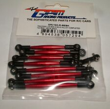 TRAXXAS MINI E-REVO GPM RED ALUMINUM COMPLETE TIE-ROD SET 9 PCS ERV160